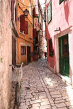 Rue de Rovinj, Croatie Image libre de droits