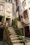 Rue de Rovinj, Croatie Photo libre de droits