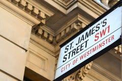Rue de rue James Images libres de droits