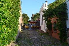 Rue de Sacramento de del de Colonia Image libre de droits