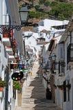 Rue de San Sebastian, Mijas photos libres de droits