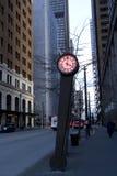 Rue de Seattle d'horloge photographie stock libre de droits