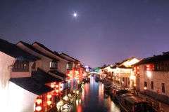 Rue de Shantang à suzhou Photographie stock libre de droits