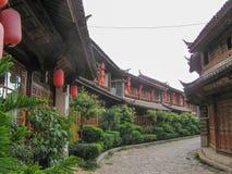 Rue de Sifang dans le lijiang, Yunnan, Chine photos libres de droits
