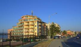 Rue de station de vacances de Sveti Vlas, Bulgarie Image stock