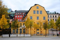 Rue de Stockholm central Image stock