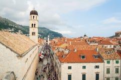 Rue de Stradun dans Dubrovnik image stock