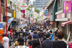 Rue de Takeshita Photos stock