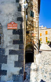 Rue de Templier; a street in the village of Grimaud, Var, South of France with no people Royalty Free Stock Image
