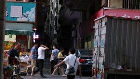 Rue de timelapse de Shenzhen dans 4k banque de vidéos