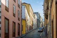 Rue de trottoir de vieille ville de La Orotava Image stock
