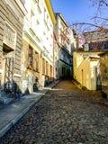 Rue de Trzech Braci dans Cieszyn en Pologne Photographie stock libre de droits