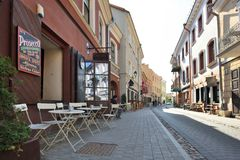 Rue de vieille ville de Vilnius Photos libres de droits