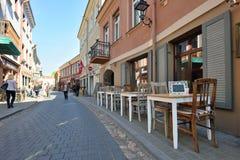 Rue de vieille ville de Vilnius Images stock