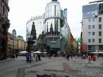 Rue de Vienne l'autriche Promenade par la ville Images libres de droits