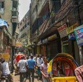 Rue de vieux Dhaka Photographie stock libre de droits