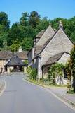 Rue de village, château Combe Image libre de droits