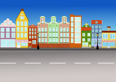 Rue de ville Photo libre de droits
