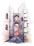 Rue de ville illustration de vecteur