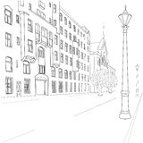 Rue de ville Image stock