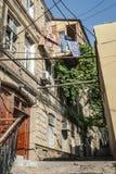 Rue de ville de ville de Bakou vieille en Azerbaïdjan Image stock