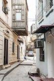 Rue de ville de ville de Bakou vieille en Azerbaïdjan Photo stock