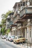 Rue de ville de ville de Bakou vieille en Azerbaïdjan Images libres de droits