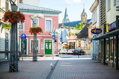 Rue de ville de Liepaja photographie stock libre de droits