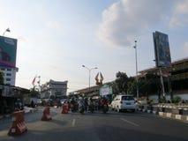 Rue de ville de Yogyakarta photos stock