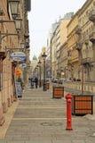 Rue de Zrinyi à Budapest, Hongrie Photo libre de droits