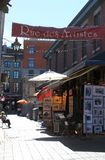 Rue des Artists in Old Montreal Stock Image
