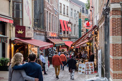 Rue des Bouchers Βέλγιο Στοκ Εικόνες