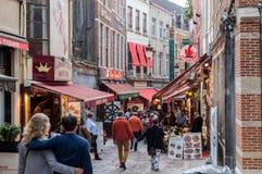 Rue-DES Bouchers Belgien Stockfoto