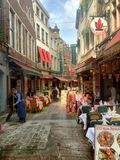 Rue des bouchers in  Brussels Royalty Free Stock Photo