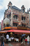 Rue des Bouchers Brussels Belgium Royalty Free Stock Image