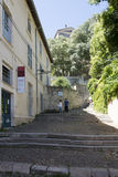 Rue-DES Escaliers Sainte-Anne, Avignon, Frankreich Stockfotografie