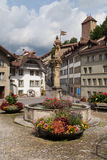 Rue des Forgerons, Fribourg Royalty Free Stock Photos