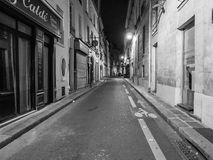 Rue des Grands Augustins, Paris, at night Royalty Free Stock Photos