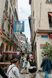 Rue des Orfevres in the center of Strasbourg Royalty Free Stock Image