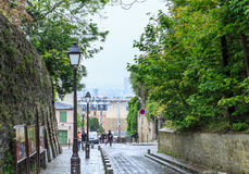Rue des Saules. Montmartre Royalty Free Stock Photos