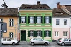 Rue du centre à Sibiu Photo stock