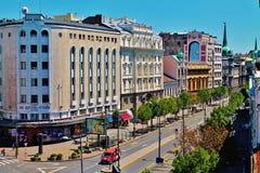 Rue du centre Balkans de Belgrade - de Beograd Serbie - de Terazije Photo libre de droits