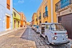 Rue du centre dans Campeche, Mexique Image stock