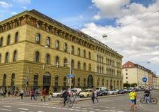 Rue du centre de Munich, Allemagne Images libres de droits
