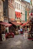 Rue du marché à Bruxelles Belgique Photos stock