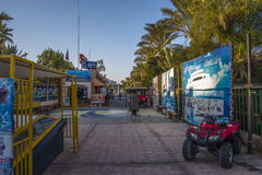 Rue du marché dans la baie de naama photographie stock