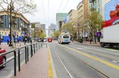 Rue du marché, San Francisco du centre Images libres de droits