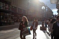 Rue du Marche à Genève, Suisse photos libres de droits