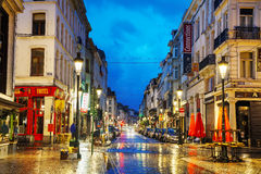 Rue du Midi in Brussels Royalty Free Stock Photos