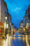 Rue du Midi in Brussels Stock Photos